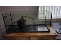 Fish Tank and External Filter For Sale