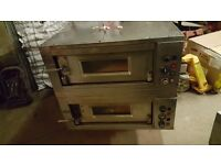 "MORETTI FORNI COMMERCIAL ELECTRIC PIZZA OVEN DOUBLE DECK 3 PHASE 12X12"" PIZZA FOR TAKEAWAY BAKERY"