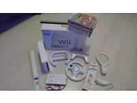 Wii wih box, games and accessories