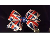 Large boutique union jack bows
