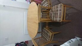 FOLDED TABLE WITH CHAIRS FOR SALE!