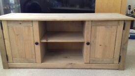 Wooden tv unit with 2 cupboards