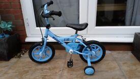 "Boys Blue 12"" Bike with Stabilisers"