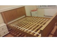 Bed Frame for sale, Oak, King size