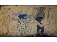 Baby boy bundle clothes up to 1 month