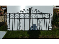 Wrought Iron Drive Gates and Large Side Gate and small top section