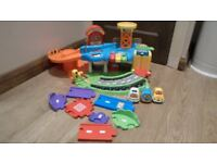 VTech Toot Toot Drivers Garage with Extra Vehicles and Extra Track