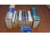 Collection of books- poems/literary classics/plays/dictionary/classics (academic texts/study)