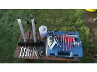 Bike workshop tools everything needed to maintain any cycle truing stand headset bearing press etc