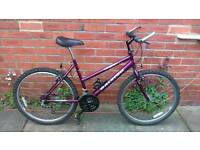 Ladies Raleigh max bike 18 inch frame, good working condition and ready to ride