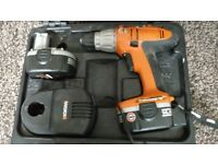 Used WORX Cordless Drill 14.4V , 1.5Ah + Spare Battery