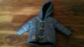 Next boy blue coat - age 6-9 months