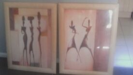 A matching pair of pictures excellent condition