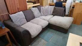 Brown Fabric corner sofa