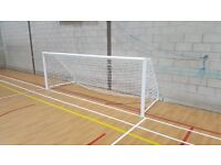 Selling a pair of 4ft by 12ft indoor football goals. BRAND NEW and still in packaging
