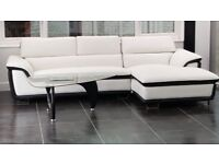 New Designer Inspired Glass Coffee Table with Black Gloss Legs
