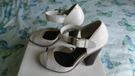 Faith white leather shoes size 3 New with stickers and box