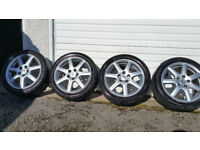 Honda Genuine 17 alloy wheels + 4 x tyres 225 45 17