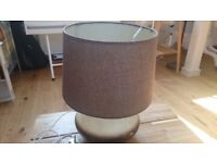 NEXT desk lamp (Ombre stone colour base and grey shade)