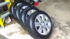 2 x Sets ALLOY WHEELS WITH WINTER TYRES (8) see Pictures £200.00 per set