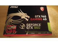 MSI Gaming 4G GTX 960 OC w/ Twin Frozr V cooler (4Gb VRAM)