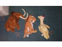 Ice Age kids soft toys