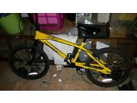 BMX yellow bike boys men