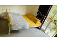 King Size Metal Bed & Spring Mattress