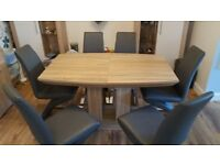 Napoli Extending Dining Table and 6 Demi Z Dining Chairs