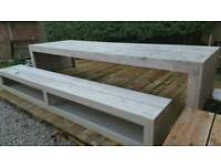 Large 15-20 up cycled seater rustic dining table