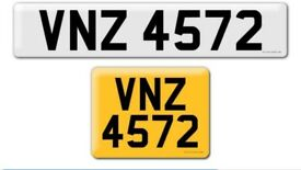 VNZ 4572 private Cherished personalised personal registration plate number