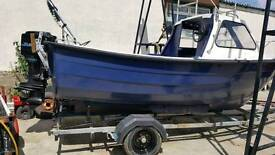 17ft baraccda fast Fisher on strong trailer with 70hp mercury power trim and tilt excellent
