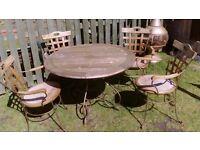 retro wrought iron patio set