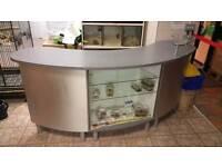 Shop counter glass shelf