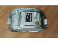 "Vintage LE Hohner X 14"" X 6"" Mirror Chrome Steel Shell Snare Drum 20 Snare Wires"