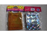 Gift bags - Gold /Silver coloured - 5 pack x 2