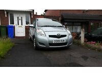 Toyota Yaris 1.3 VVT-i TR 5dr 2 Lady Owners. Full Service History Silver Grey £30 Road tax Per Year