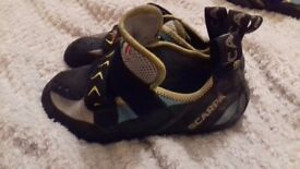 Scarpa Vapor climbing shoes size 3 2/3 ( kids)