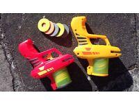 Soft Foam Disc Shooter - Zip Shot Twin Pack with 22 Discs Safe Toy Gun