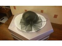 Black & White Saucer Fascinator from Hat Box at Debenhams