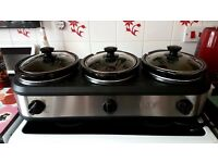 Three Pot Slow cooker