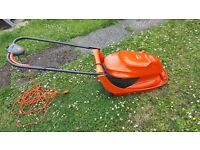 Flymo hover vac 208, 12 inch cut, 28ft of cord.