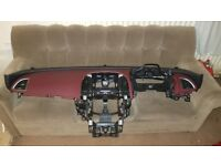 Vauxhall Astra J MK6 GTC red dashboard with airbags