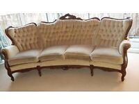 Rare antique curved sofa