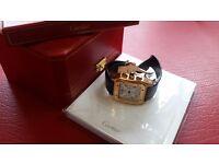 New Swiss Cartier Santos 100 leather strap! £100!
