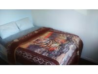 DOUBLE BED + MATTRESS (LIKE NEW)