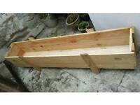 Wooden planter 2m long