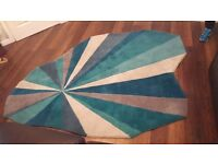 Marks and spencers teal shaped rug