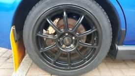 17' Subaru Black Prodrive Alloys (SWAP Only)