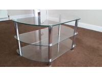 Glass 3 tier coffee table